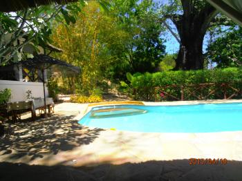 Privat Pool, Koch, Strand an der Kilifi Creek